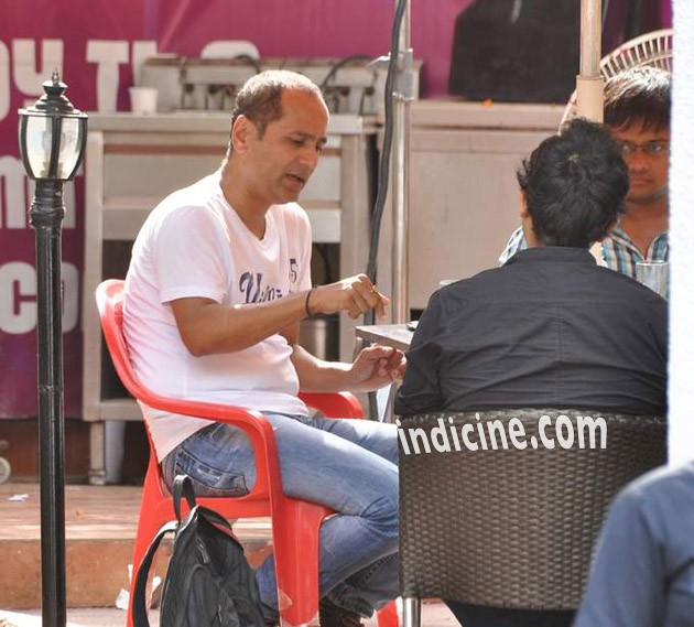 Vipul Shah on the sets of Pistol