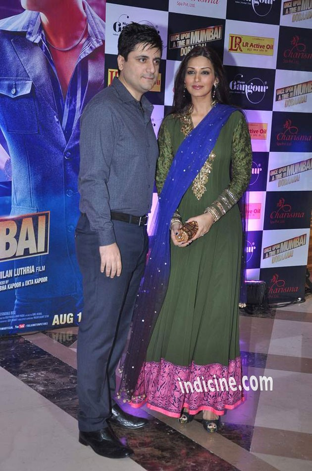 Goldie Behl with wife Sonali Bendre