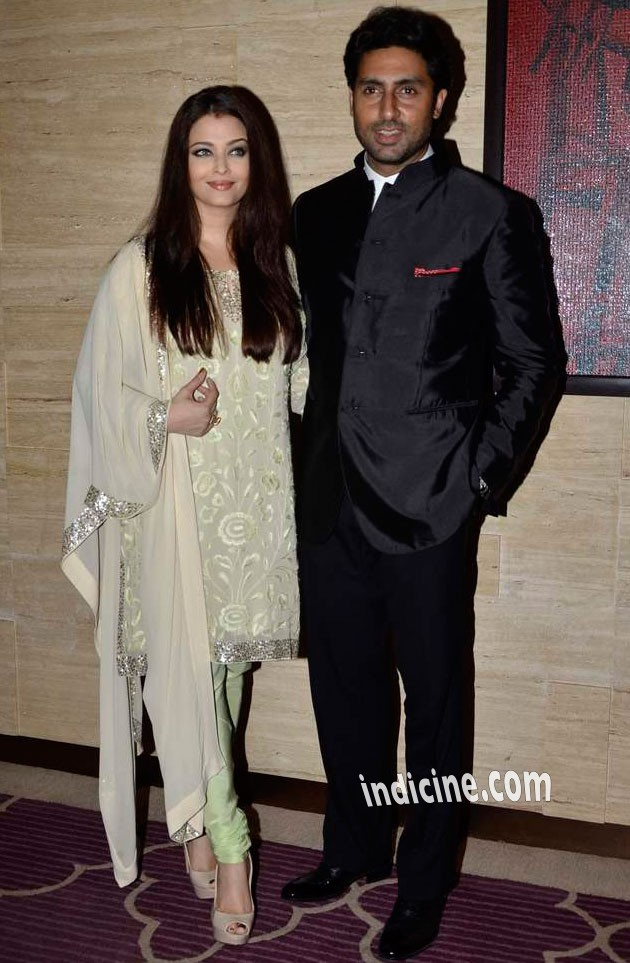 Aishwarya Rai with husband Abhishek Bachchan