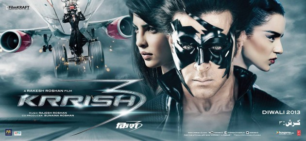 Krrish 3 Poster - Hrithik, Priyanka and Kangana