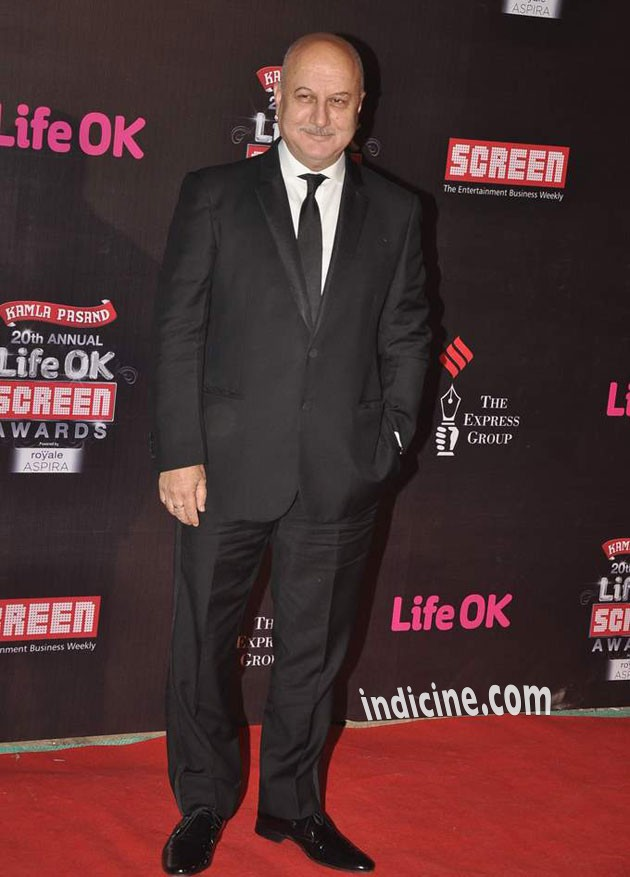Anupam Kher at the 20th Annual Life Ok Screen Awards 2014