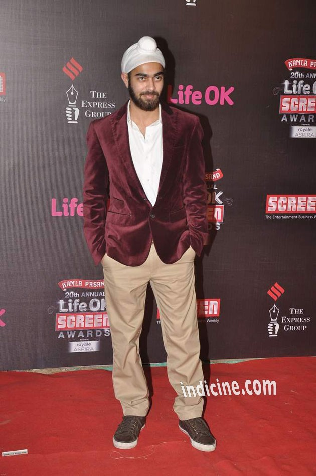 Manjot Singh at the 20th Annual Life Ok Screen Awards 2014