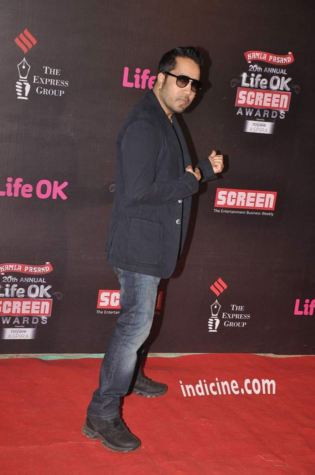 Mika Singh at the 20th Annual Life Ok Screen Awards 2014