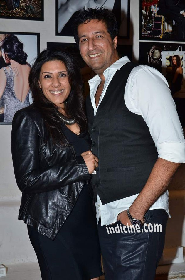 Sulaiman Merchant with wife Reshma