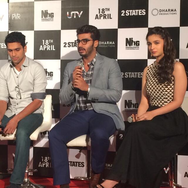 Abhishek Verman, Arjun Kapoor and Alia Bhatt at 2 States ...