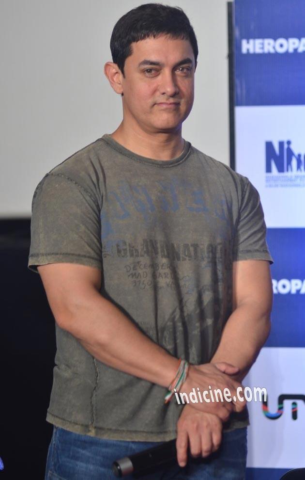 Aamir Khan at Heropanti Trailer launch
