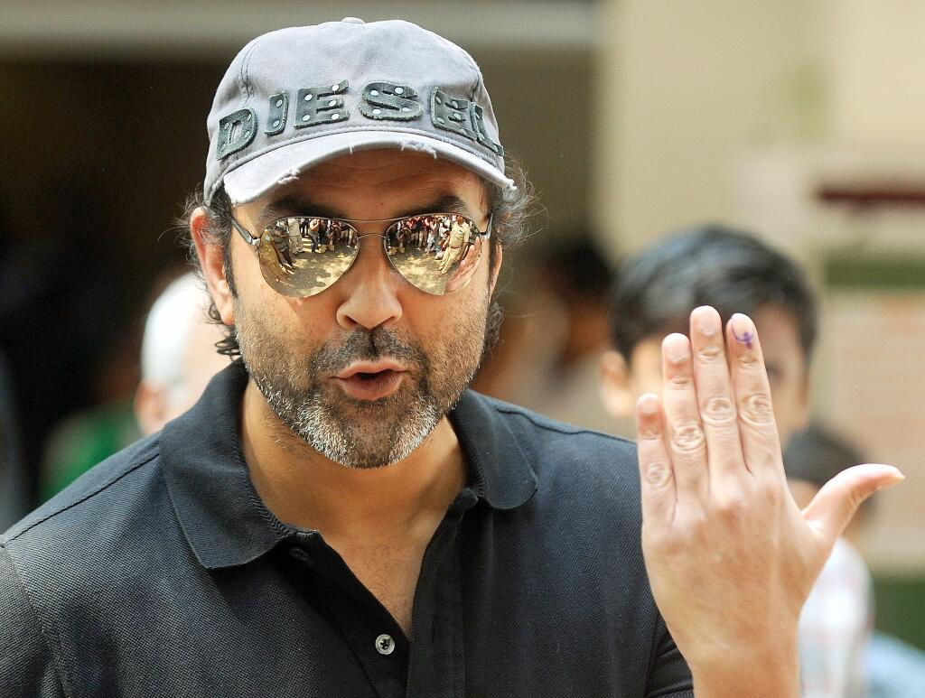 Bobby Deol after casting his vote