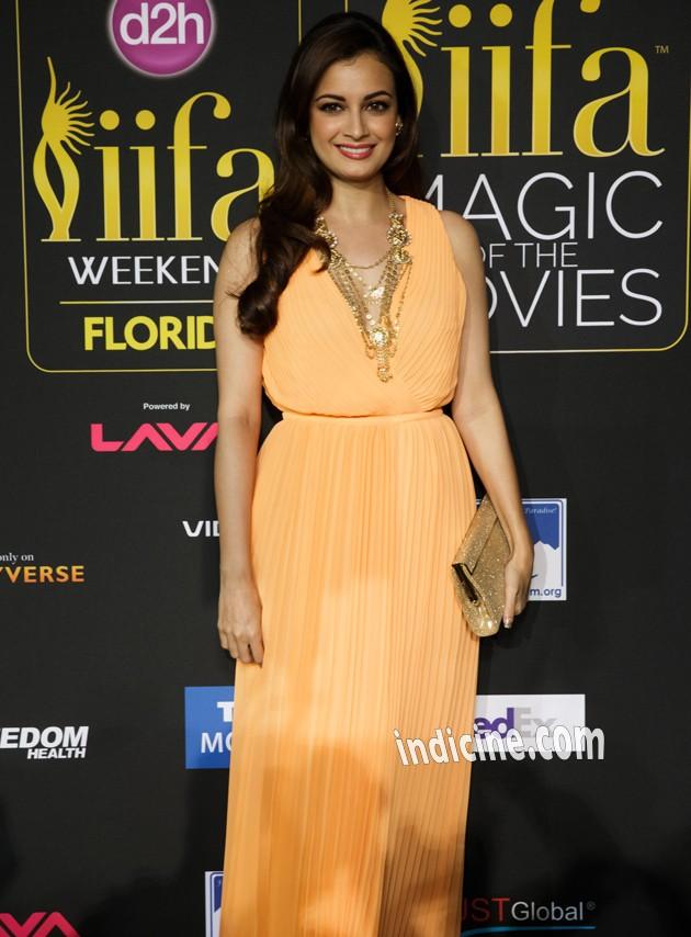 Diya Mirza at IIFA Awards Green Carpet