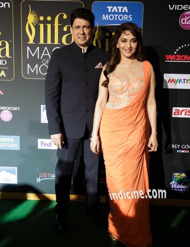 Madhuri Dixit with husband Sriram Madhav Nene