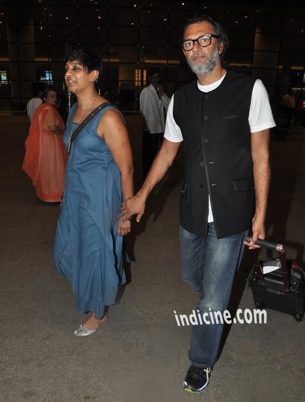 Rakesh Omprakash Mehra with wife P S Bharathi