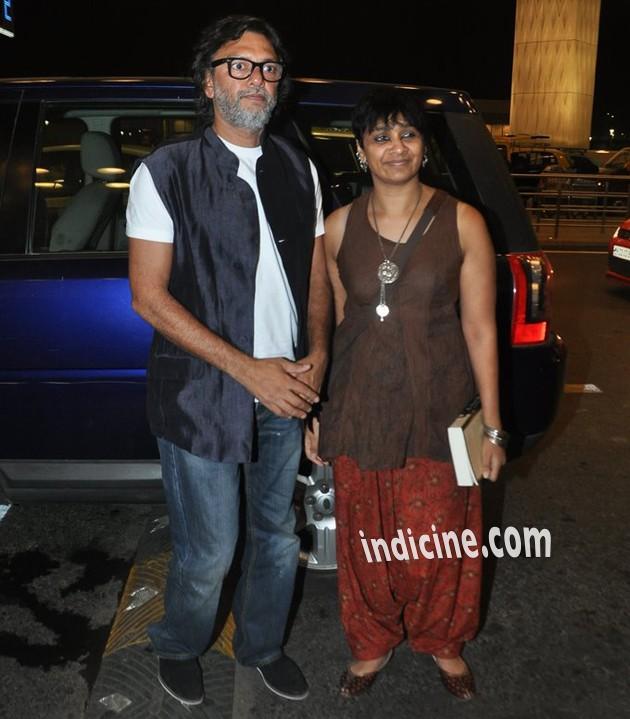 Rakesh Omprakash Mehra with wife P.S.Bharathi