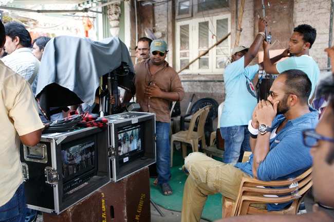 Singham 2 director Rohit Shetty during the shooting