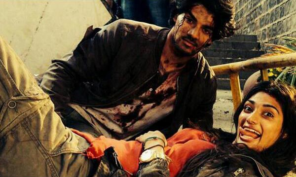 Sooraj Pancholi and Athiya Shetty on the sets of Hero