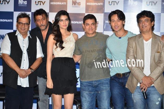 Subhash Ghai, Jackie Shroff, Kriti Sanon, Aamir Khan, Tiger Shrof and Sajid Nadiadwala