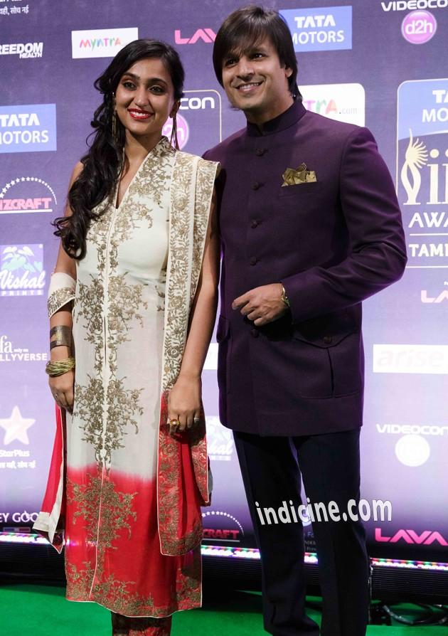 Vivek Oberoi with wife Priyanka Alva