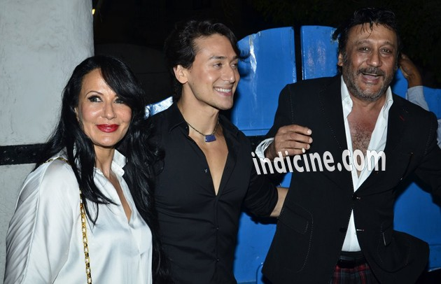 Tiger Shroff with mother Ayesha Dutt and father Jackie Shroff