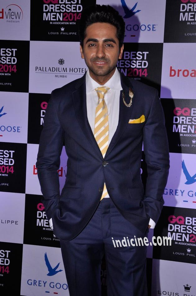 Ayushmann Khurrana at GQ Best Dressed Men 2014 awards