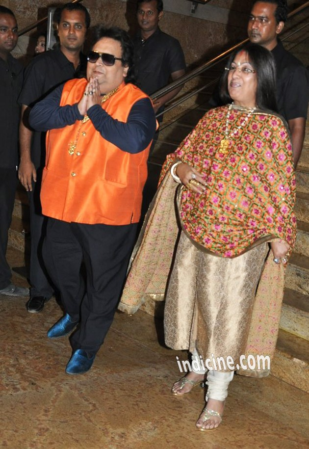 Bappi Lahiri with wife Chitrani