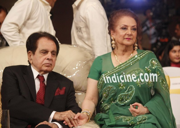 Dilip Kumar with wife Saira Banu
