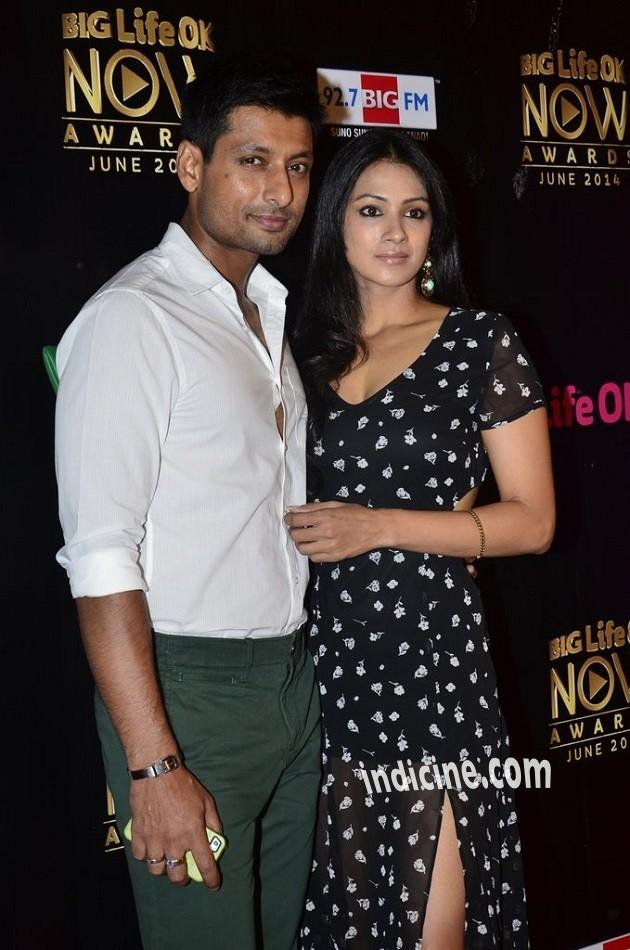 Indraneil Sengupta with wife Barkha Bishit Sengupta