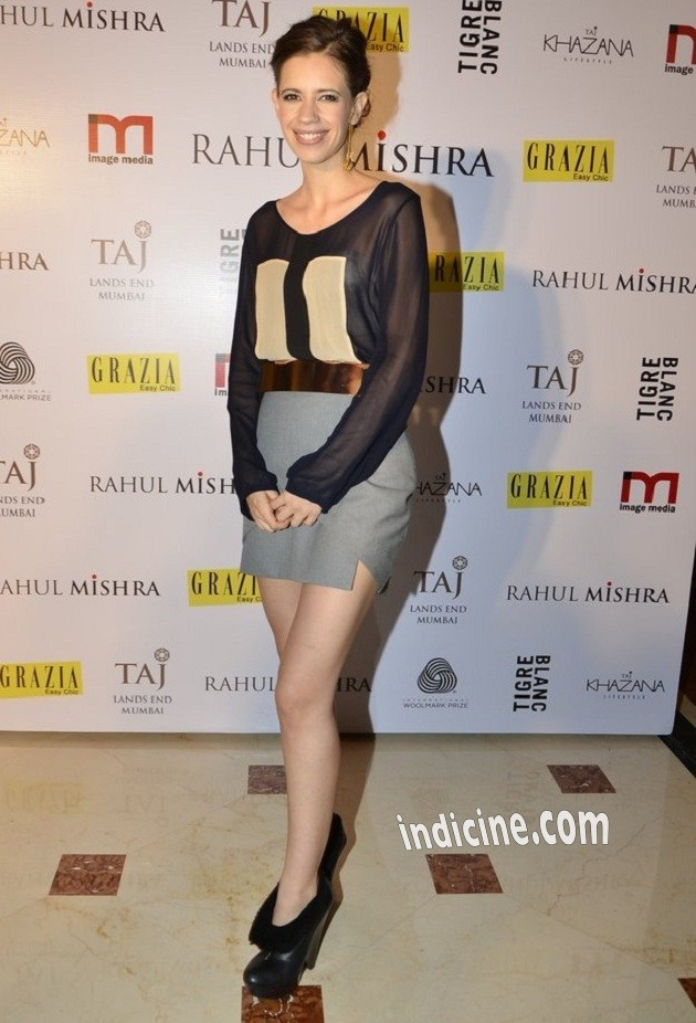 Kalki Koechlin at Rahul Mishra's bash