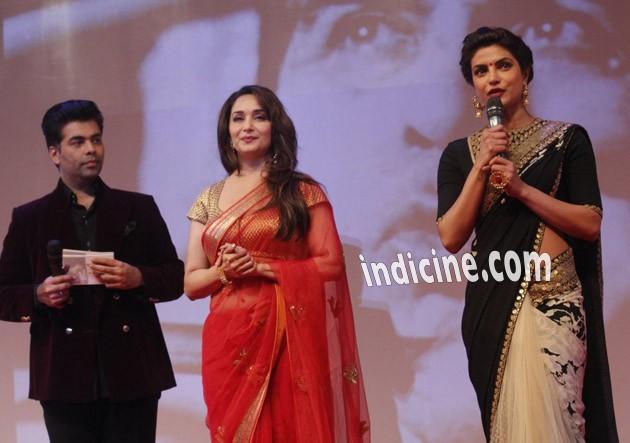 Karan Johar, Madhuri Dixit and Priyanka Chopra