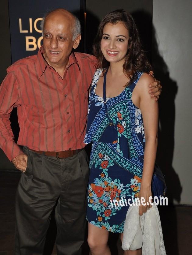 Mukesh Bhatt with Diya Mirza