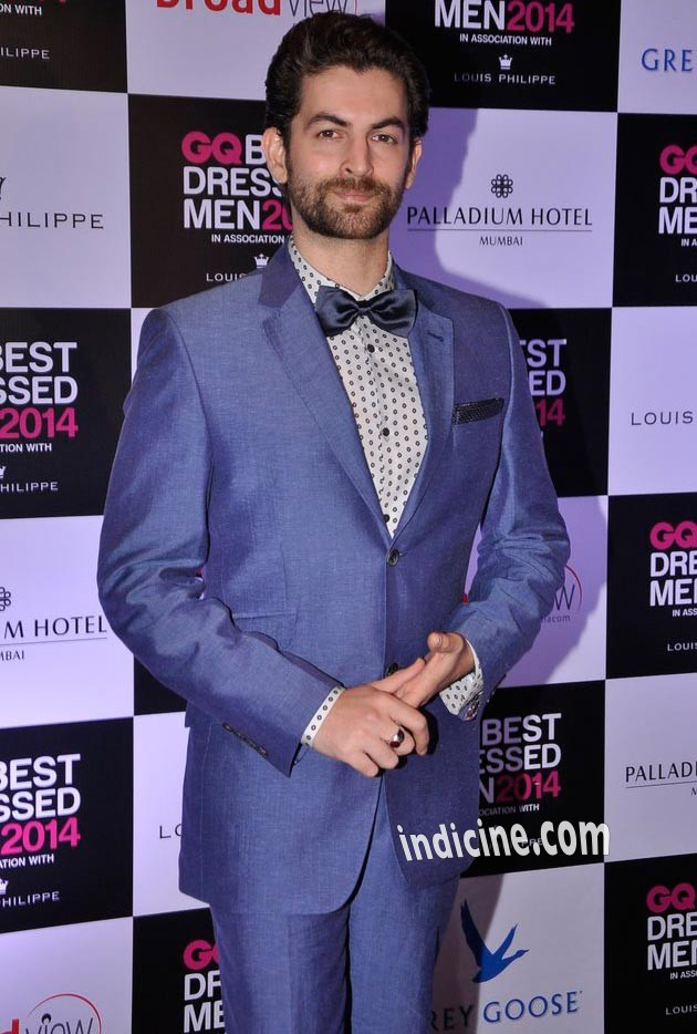 Neil Nitin Mukesh at GQ Best Dressed Men 2014 awards