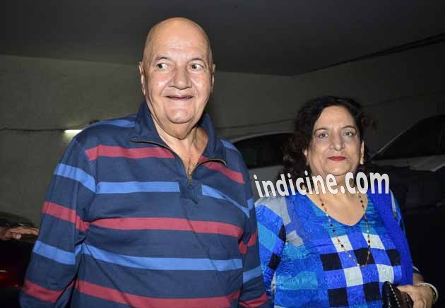 Prem Chopra with wife Uma Chopra