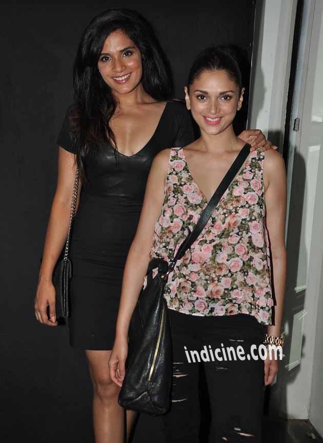 Richa Chadda with Aditi Rao Hydari