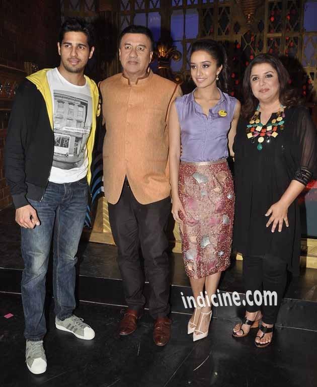 Sidharth Malhotra, Anu Malik, Shraddha Kapoor and Farah Khan