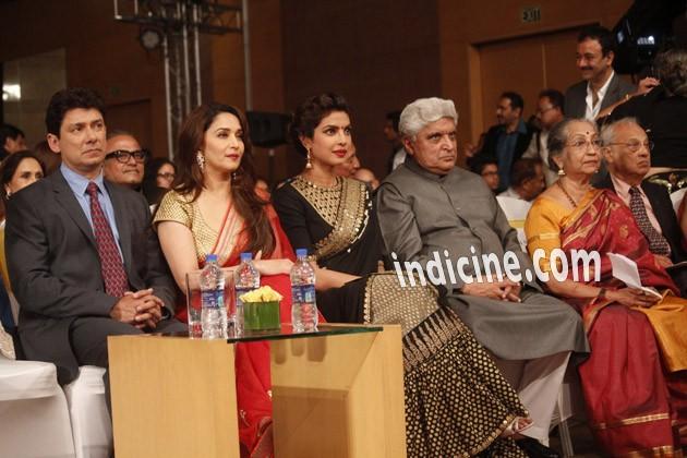 Sriram Madhav Nene, Madhuri Dixit, Priyanka Chopra and Javed Akhtar