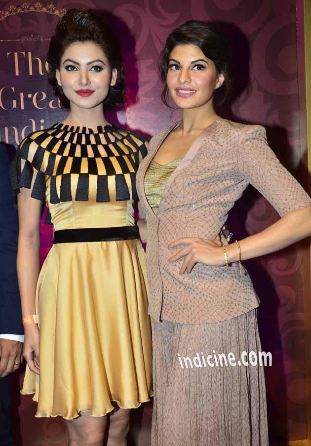 Urvashi Rautela with Jacqueline Fernandes