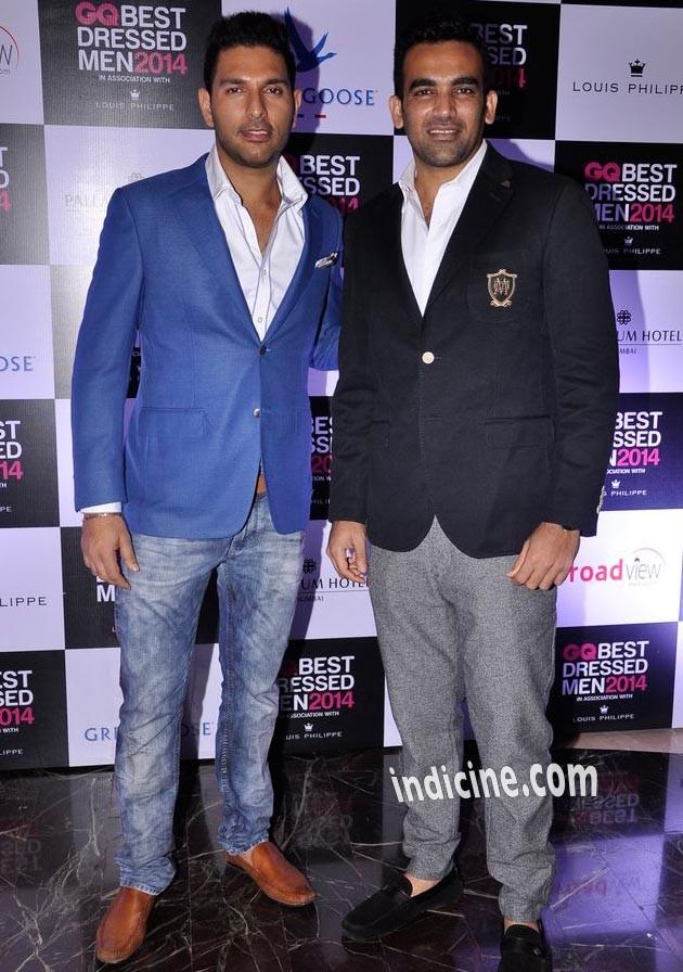 Yuvraj Singh with Zaheer Khan
