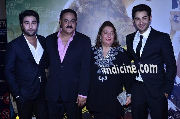Aadar Jain, Manoj Jain, Reema Kapoor and Armaan Jain