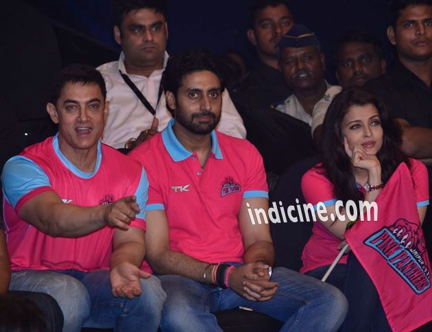 Aamir Khan, Abhishek Bachchan and Aishwarya Rai Bachchan