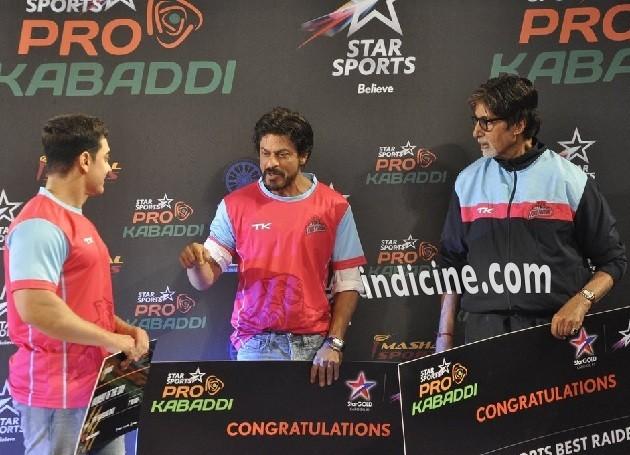 Aamir Khan, Shahrukh Khan and Amitabh Bachchan at Pro Kabbadi League