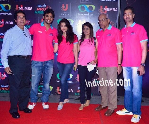 Aishwarya Rai, Krishnaraj Rai and Aditya Rai