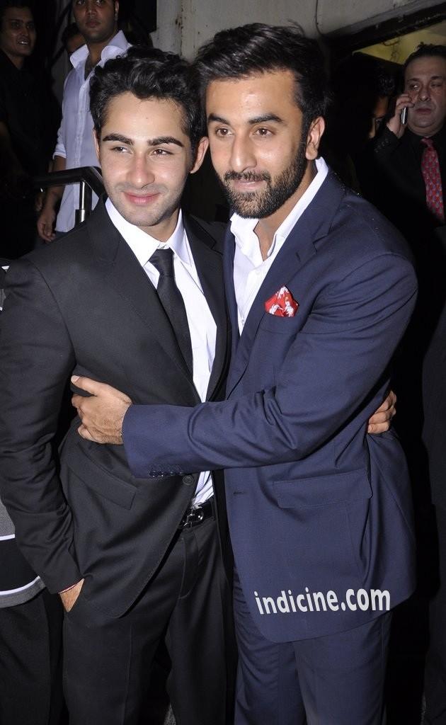Armaan Jain, Ranbir Kapoor at Lekar Hum Deewana Dil premiere