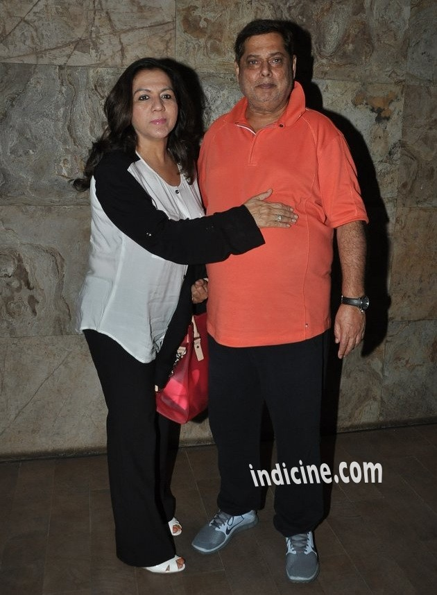 David Dhawan with wife Karuna Dhawan