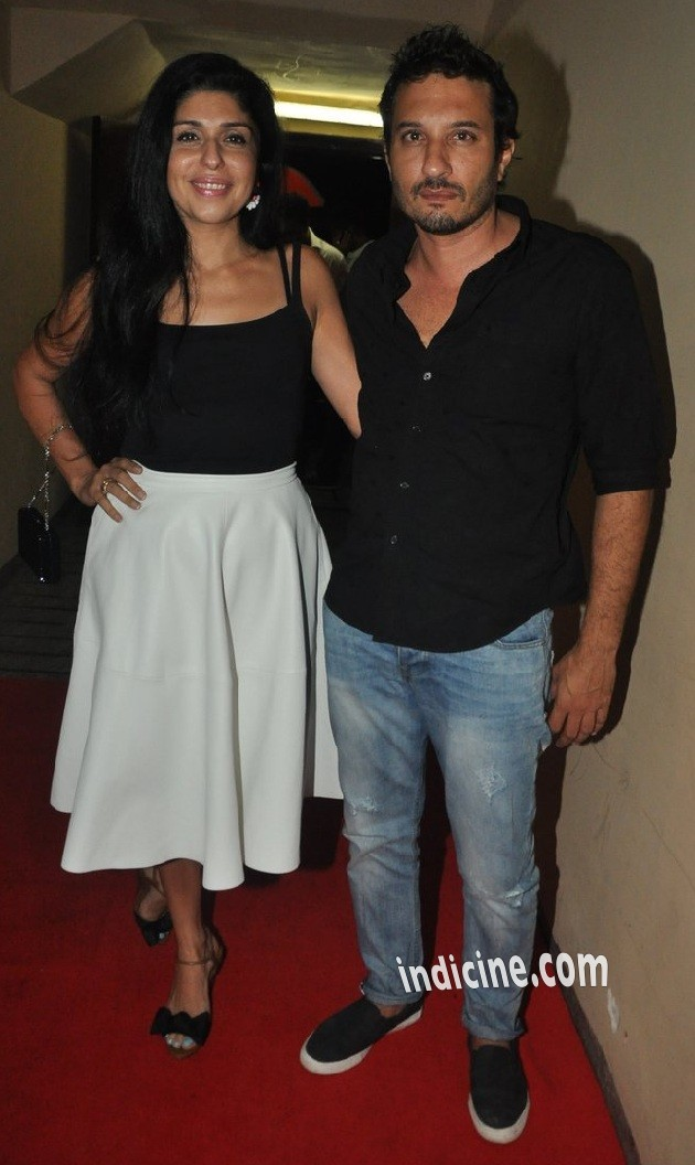 Homi Adajania with wife Anaita Shroff Adajania