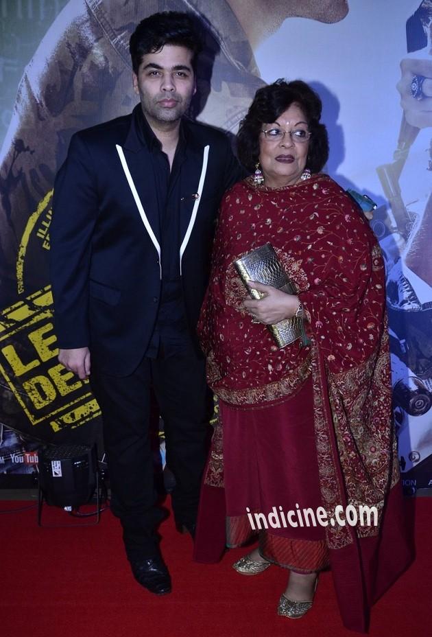 Karan Johar with mother Hiroo Johar