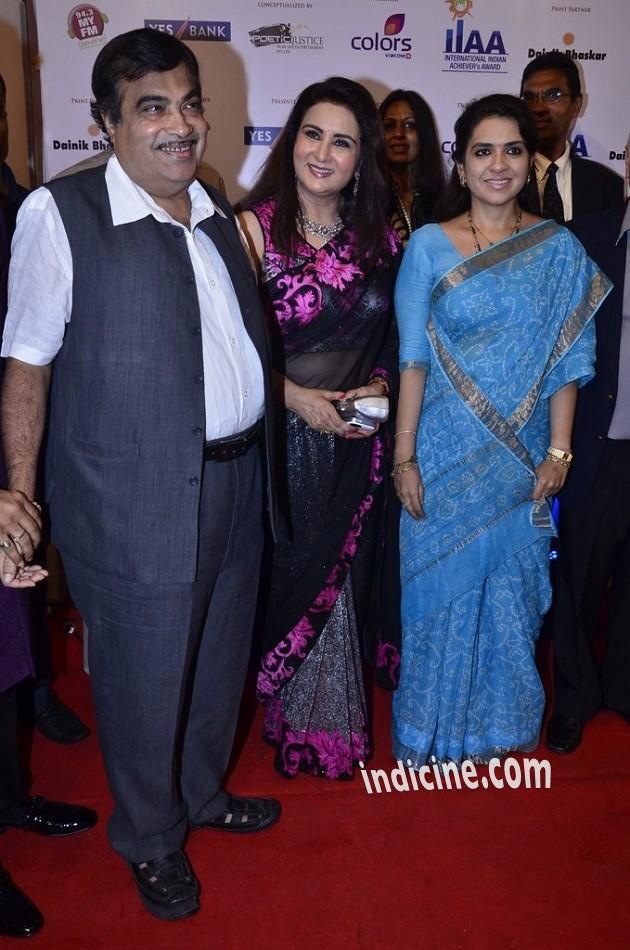 Nitin Gadkari, Poonam Dhillon and Shaina NC
