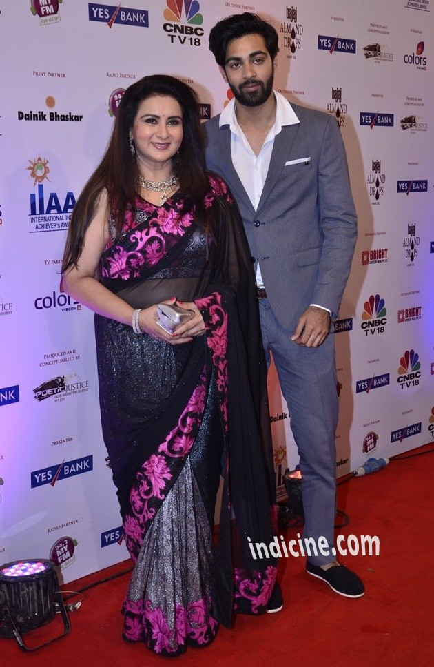 Poonam Dhillon with son Anmol Thakeria