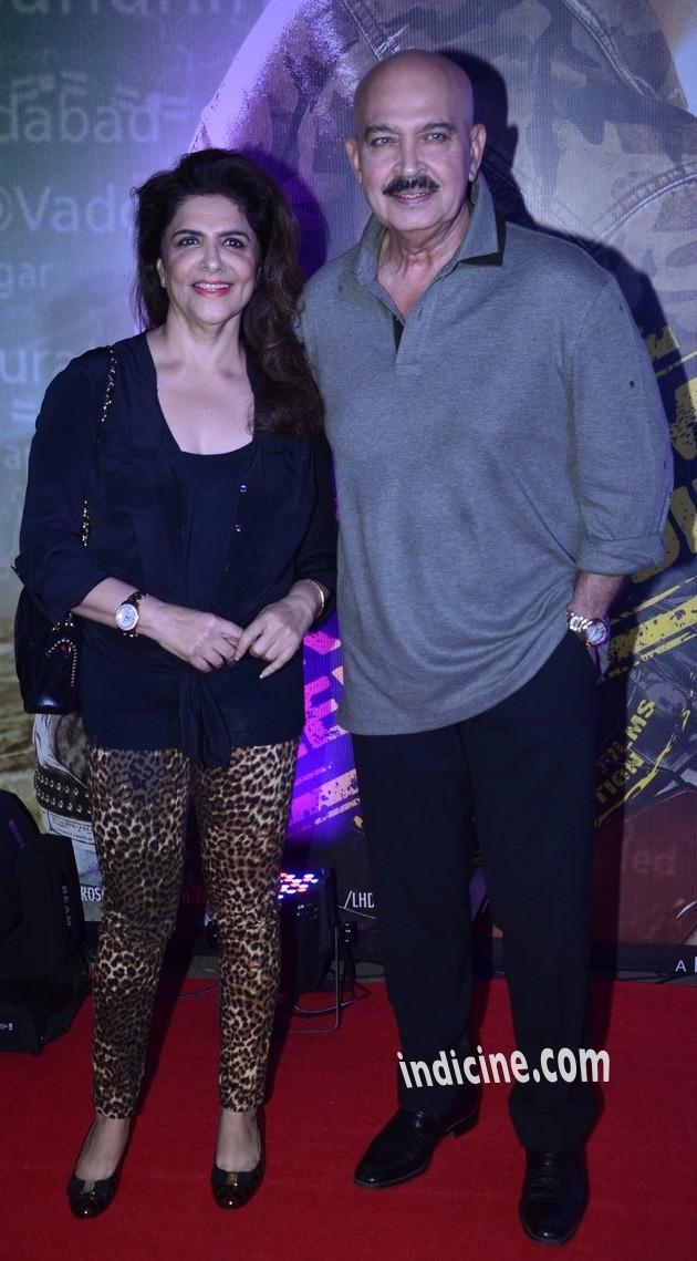 Rakesh Roshan with wife Pinky Roshan