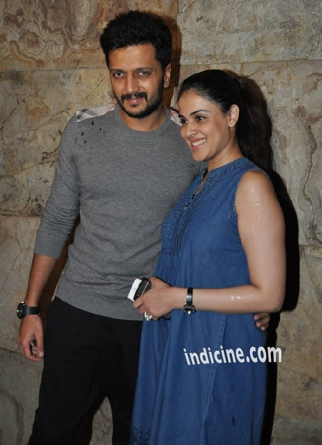 Riteish Deshmukh with wife Genelia D'Souza