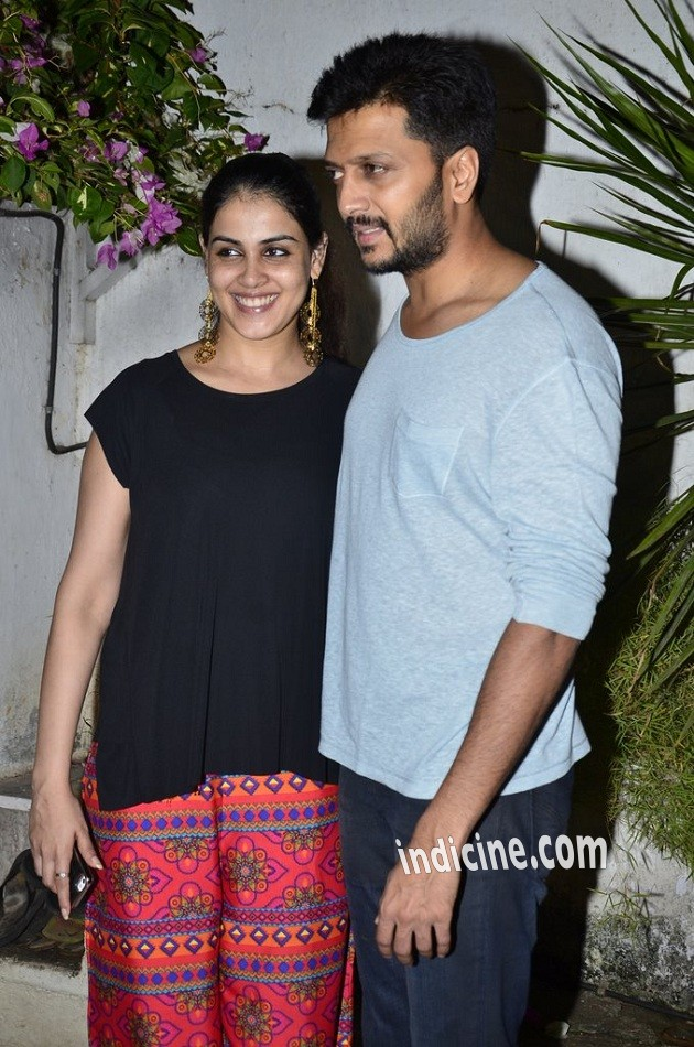 Riteish Deshmukh with wife Genelia D'Souza