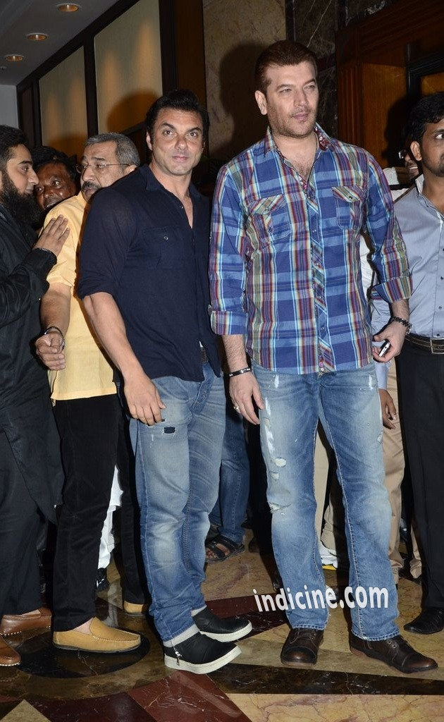 Sohail Khan with Aditya Pancholi