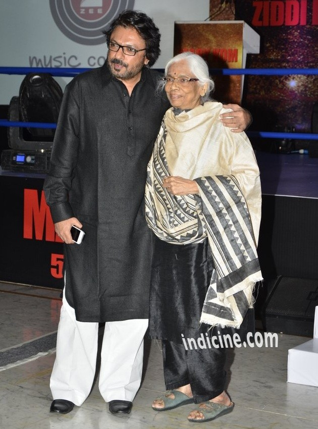 Sanjay Leela Bhansali with mother Leela Bhansali