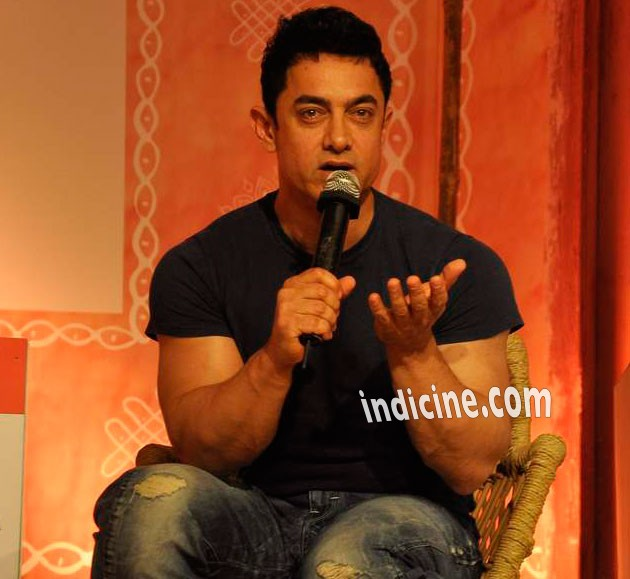 Aamir Khan talks at Aaj Tak Panchayat Talk Show